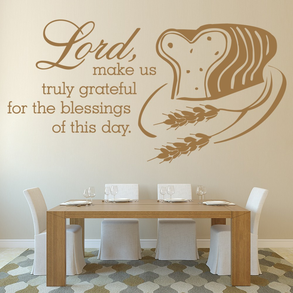 Lord Make Us Truly Grateful Religious Quotes Wall Sticker