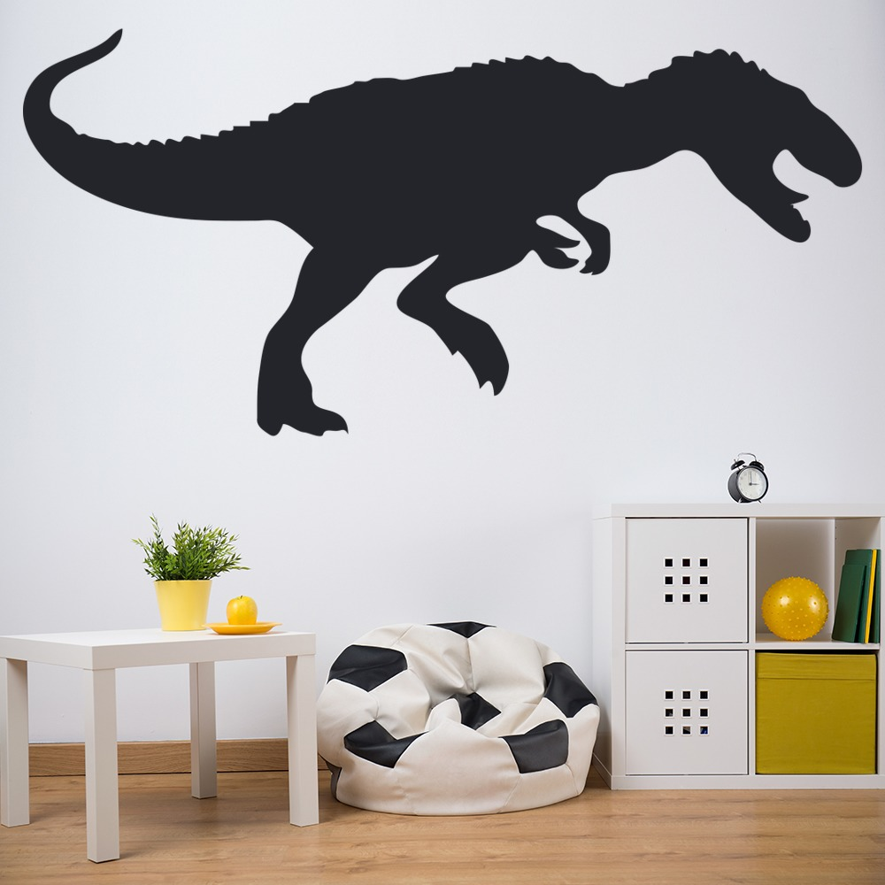 T rex prehistoric print dinosaur wall sticker childrens for T rex bedroom decor