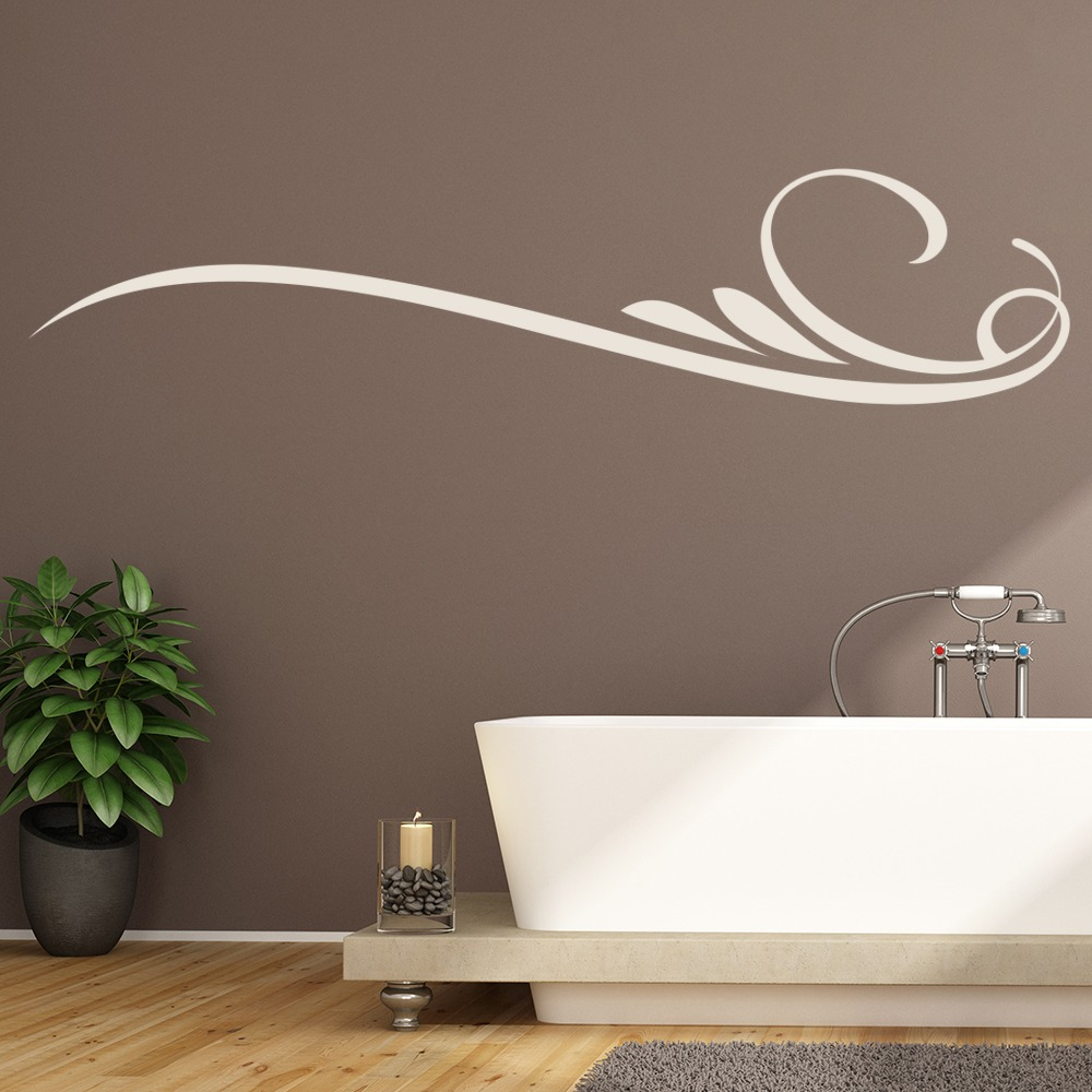 Simple Curls Lines Header Decorative Patterns Wall