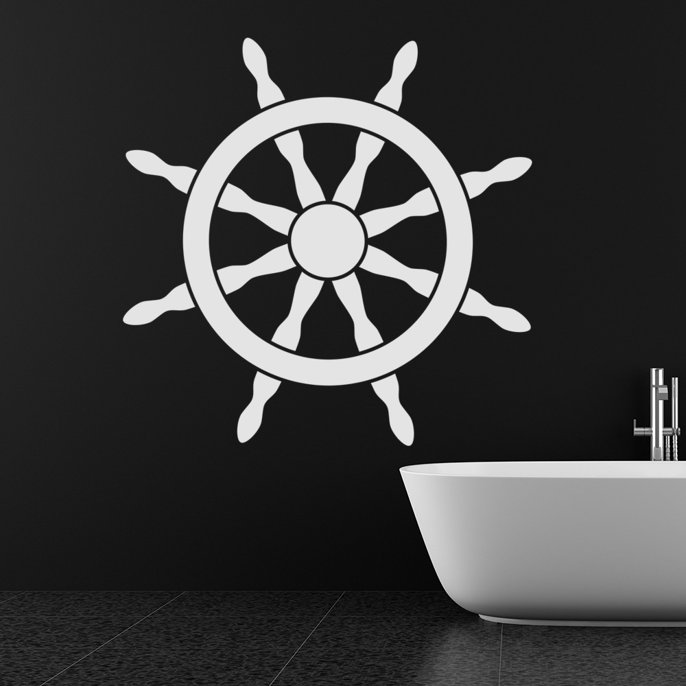Ships Wheel Nautical Sailing Bathroom Wall Sticker Bathroom Home Decor Art  Decal