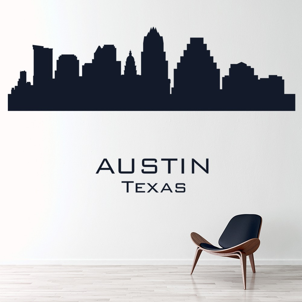 Home Decor Austin: Austin Texas City Skyline America USA Wall Stickers Home
