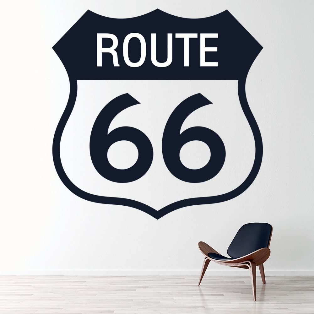 route 66 reise autoreise grenzstein amerika usa wandaufkleber home decor art ebay. Black Bedroom Furniture Sets. Home Design Ideas