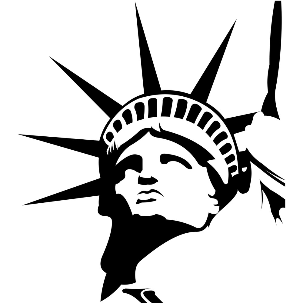 Statue Of Liberty Head America USA Wall Sticker Living Room Home Decor Art  Decal