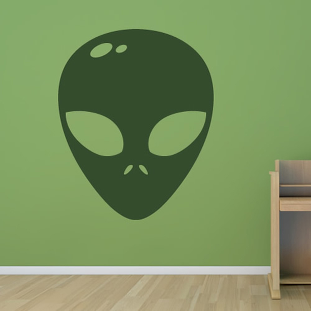 alien face head ufo planets and space wall stickers solar system alien face head ufo planets and space wall stickers solar system art decals