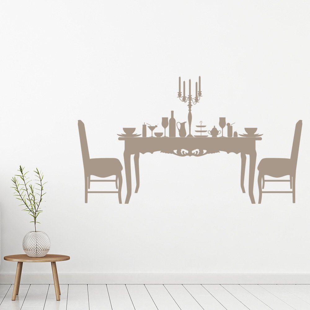 Dining table chairs food dinner dining room wall for Ebay dining room wall art