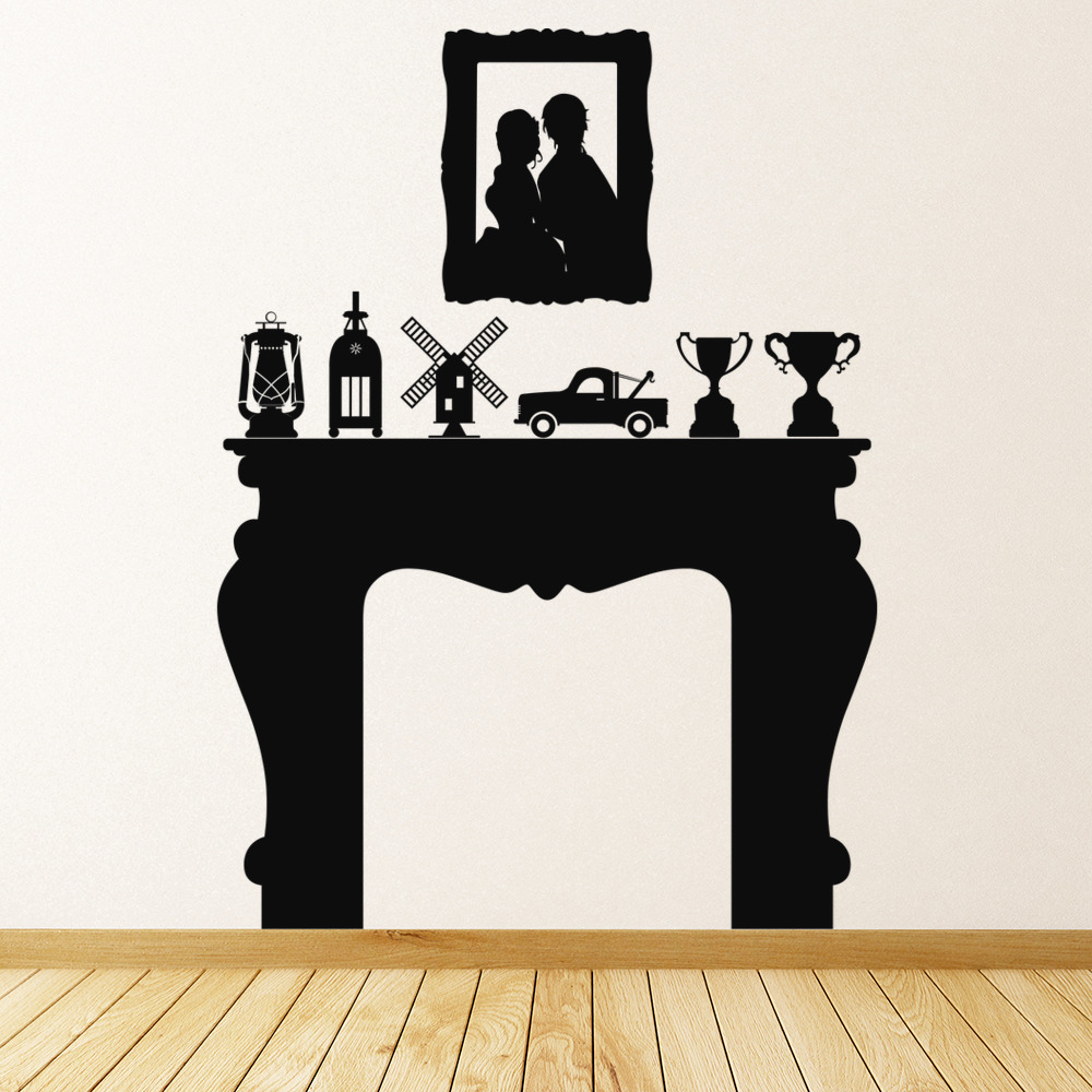 mantel living room dining room wall stickers home decor art decals