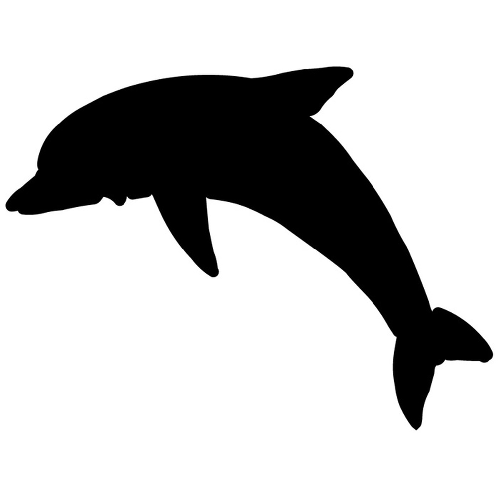 Silhouette dolphin bathroom wall stickers wall decal art