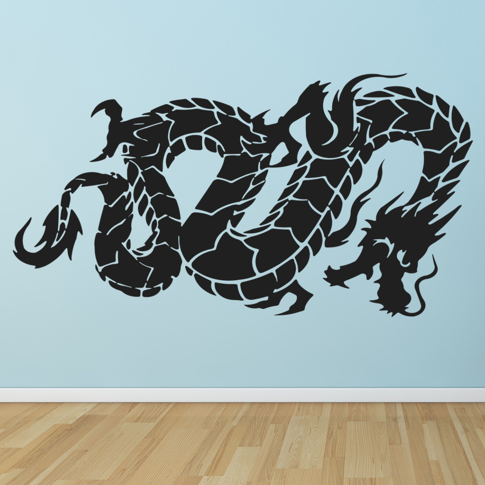 Oriental flying dragon fantasy chinese dragon wall for Asian wall decoration