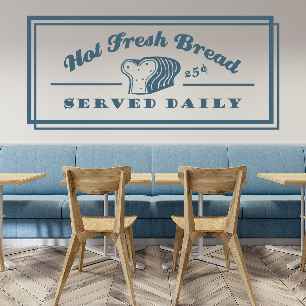 hot fresh bread food quotes slogans wall stickers kitchen decor hot fresh bread food quotes slogans wall stickers kitchen decor art decals