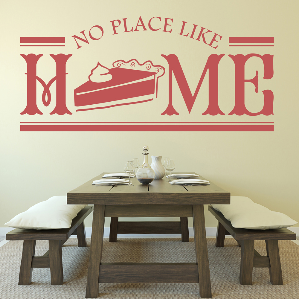 No place like home quote dining room wall stickers home for Dining room quote decals