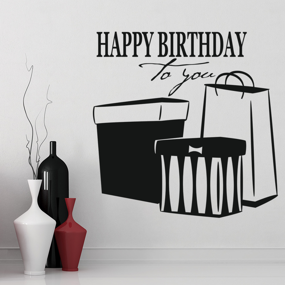 Birthday Party Wall Decals ~ Image Inspiration of Cake and Birthday ...