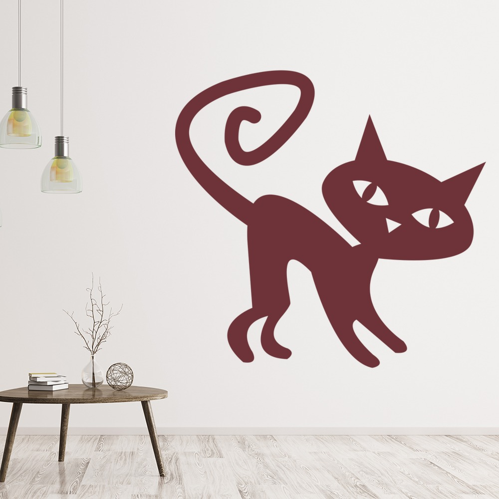 Witches Cat Creepy Magic Halloween Wall Stickers Seasonal
