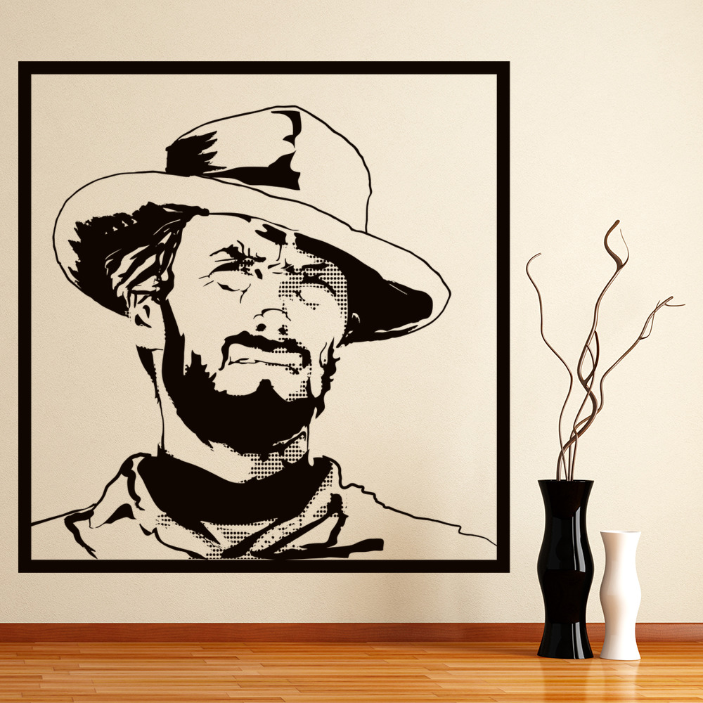 clint eastwood good bad ugly icons celebrities wall. Black Bedroom Furniture Sets. Home Design Ideas