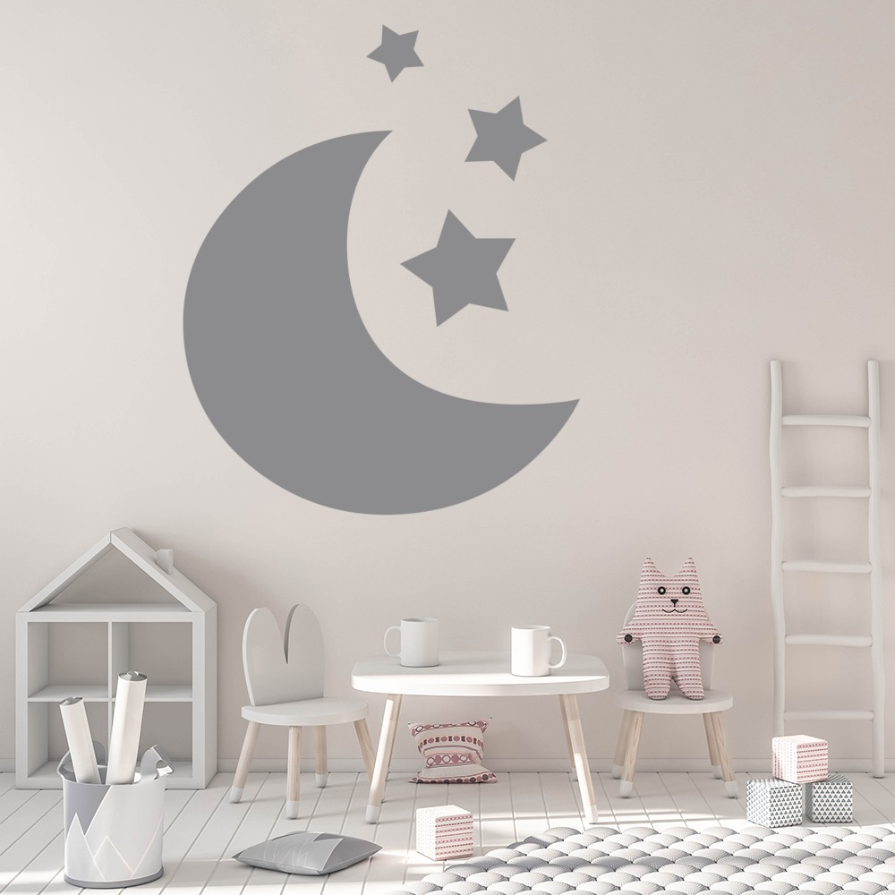moon and stars silhouette planets and space wall stickers solar moon and stars silhouette planets and space wall stickers solar system art decal