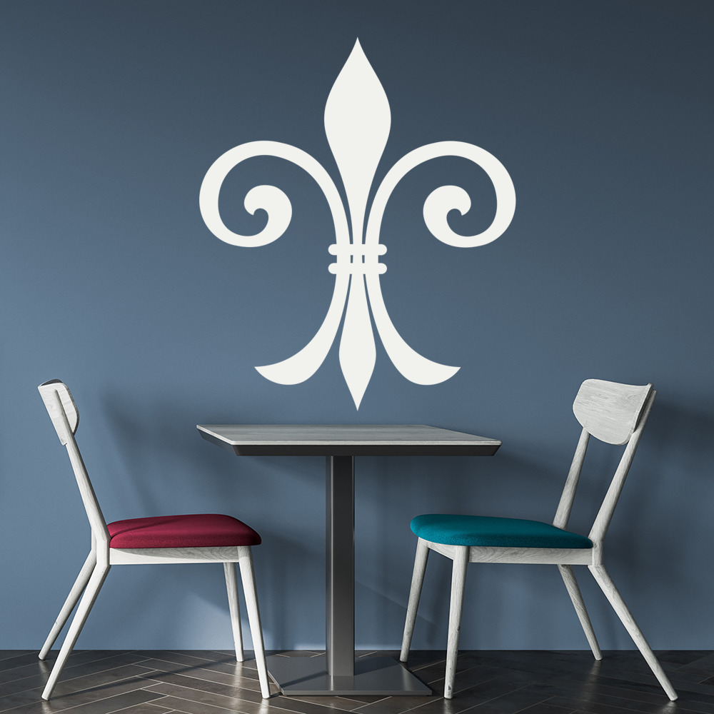 Fleur de lis narrow decorative patterns wall stickers home for Fleur de lis home decorations