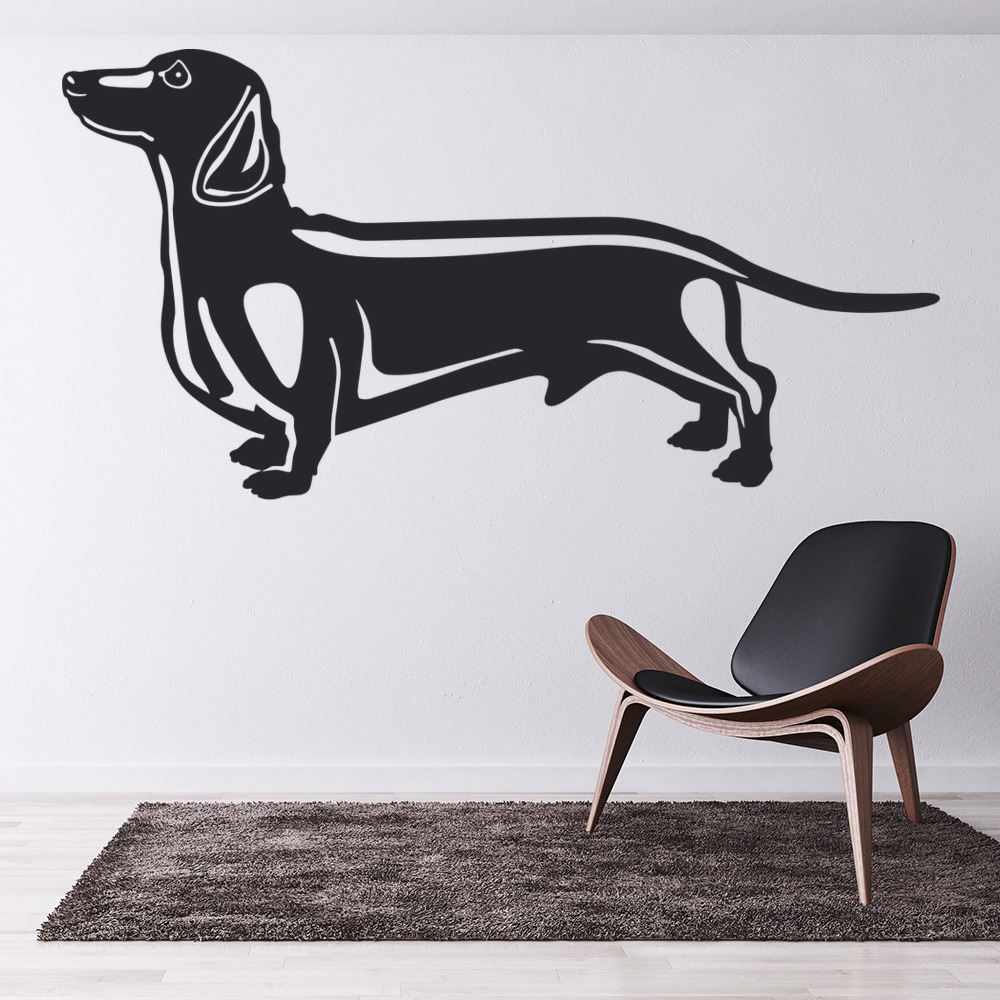 Dachshund Home Decor Dachshund Sausage Dog Canine Pet Dogs Wall Stickers Home Decor Art