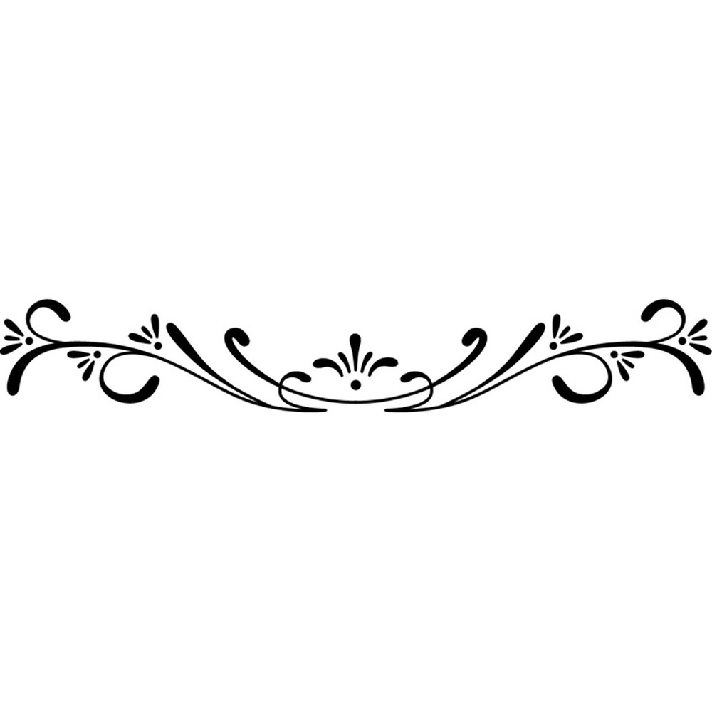 Floral Edge Fine Swirl Border Floral Design Wall Stickers ...