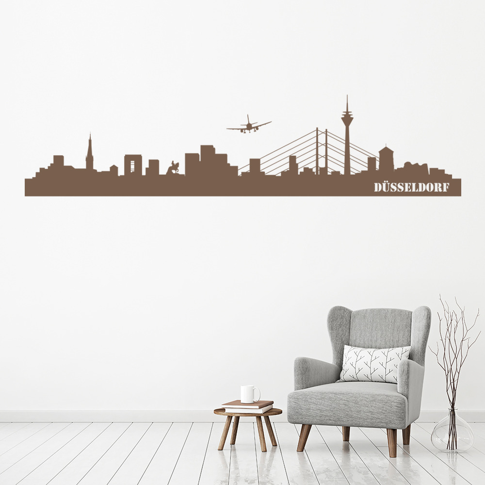 Dusseldorf Skyline Germany Rest Of The World Wall Stickers