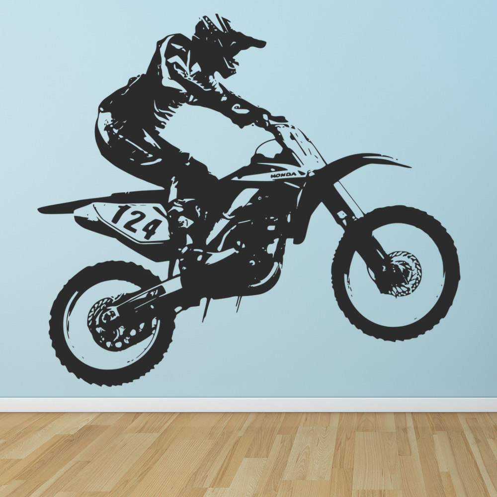 honda dirt bike motocross bike motorbike wall stickers motor sport decals ebay