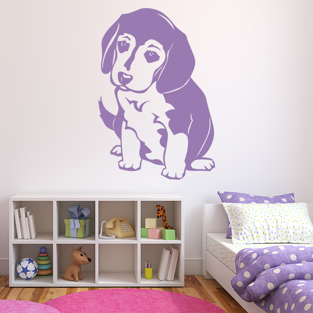beagle puppy wall sticker dog wall decal art ebay labrador wall decals dog wall quotes pets vinyl sticker