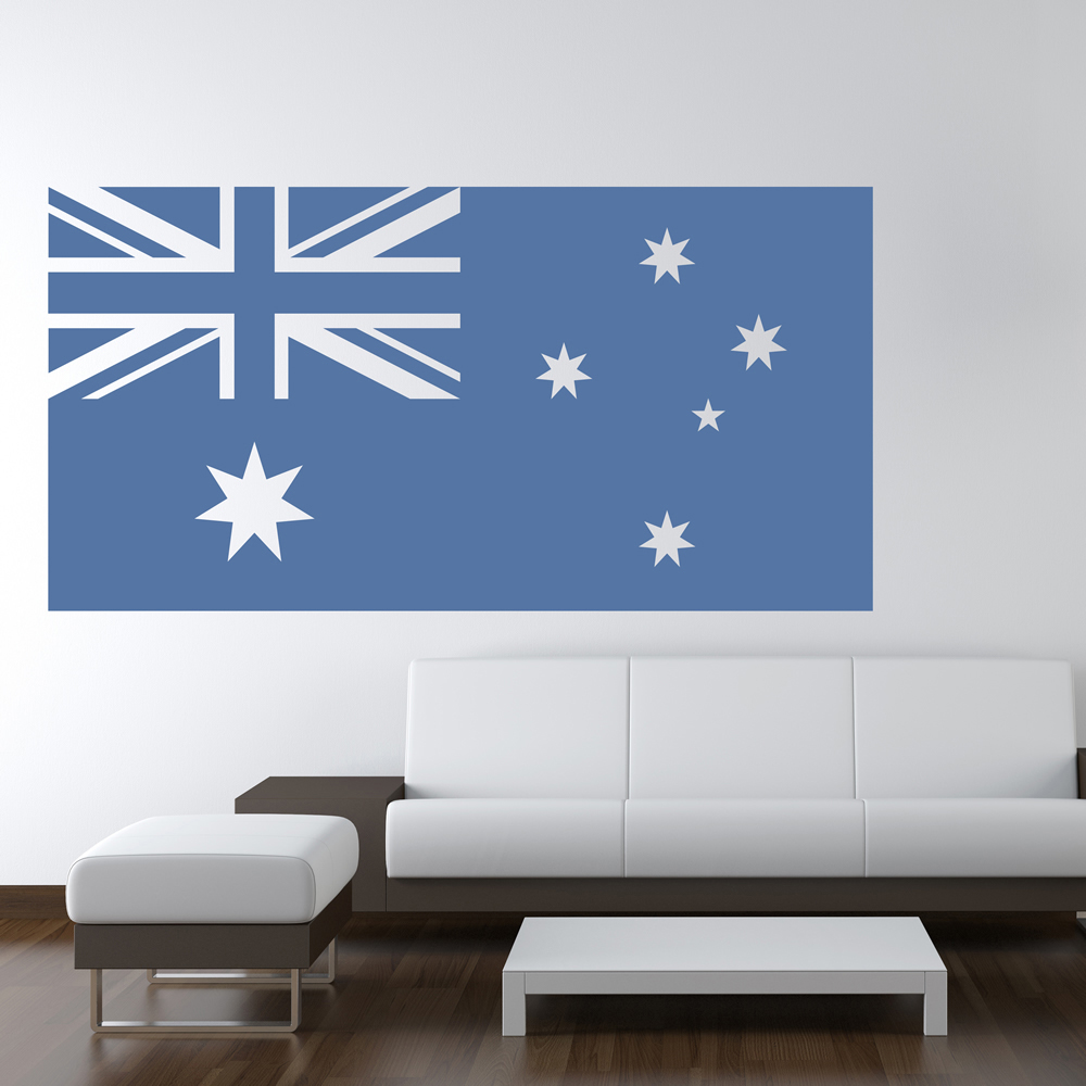 Australian flag australia rest of the world wall stickers home decor art decals ebay Home decor wall decor australia
