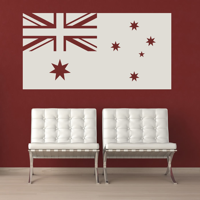 australian flag australia rest of the world wall stickers