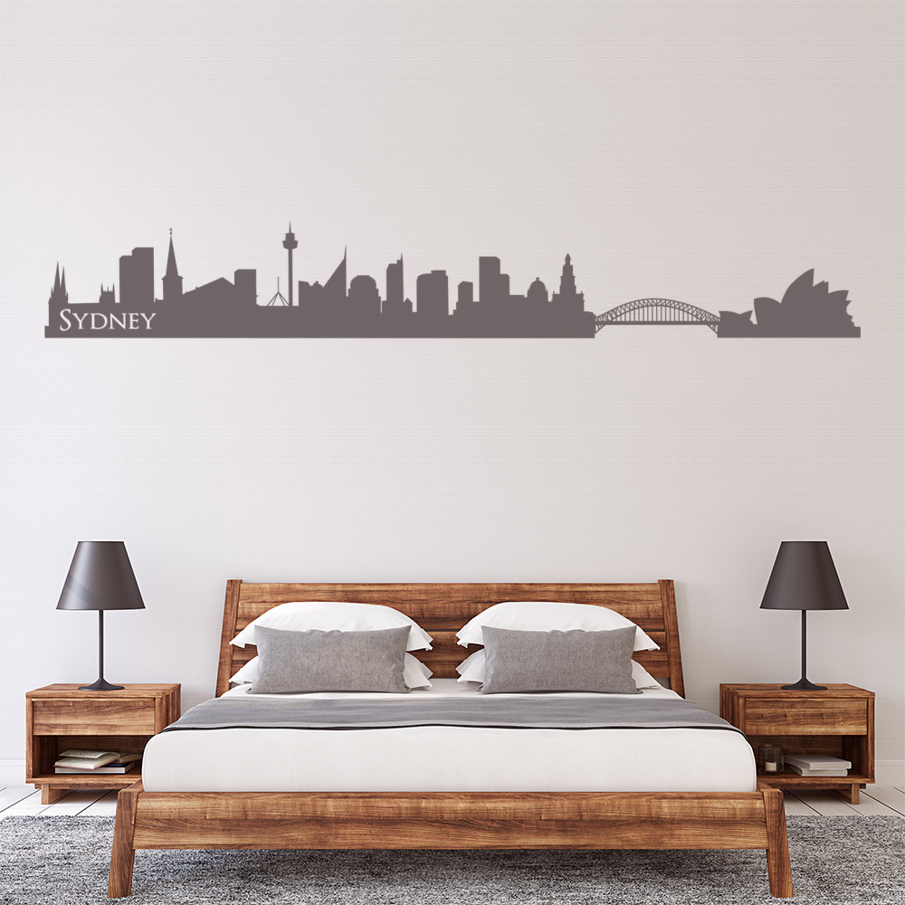 Sydney australia skyline rest of the world wall stickers home decor art decals ebay Home decor wall decor australia