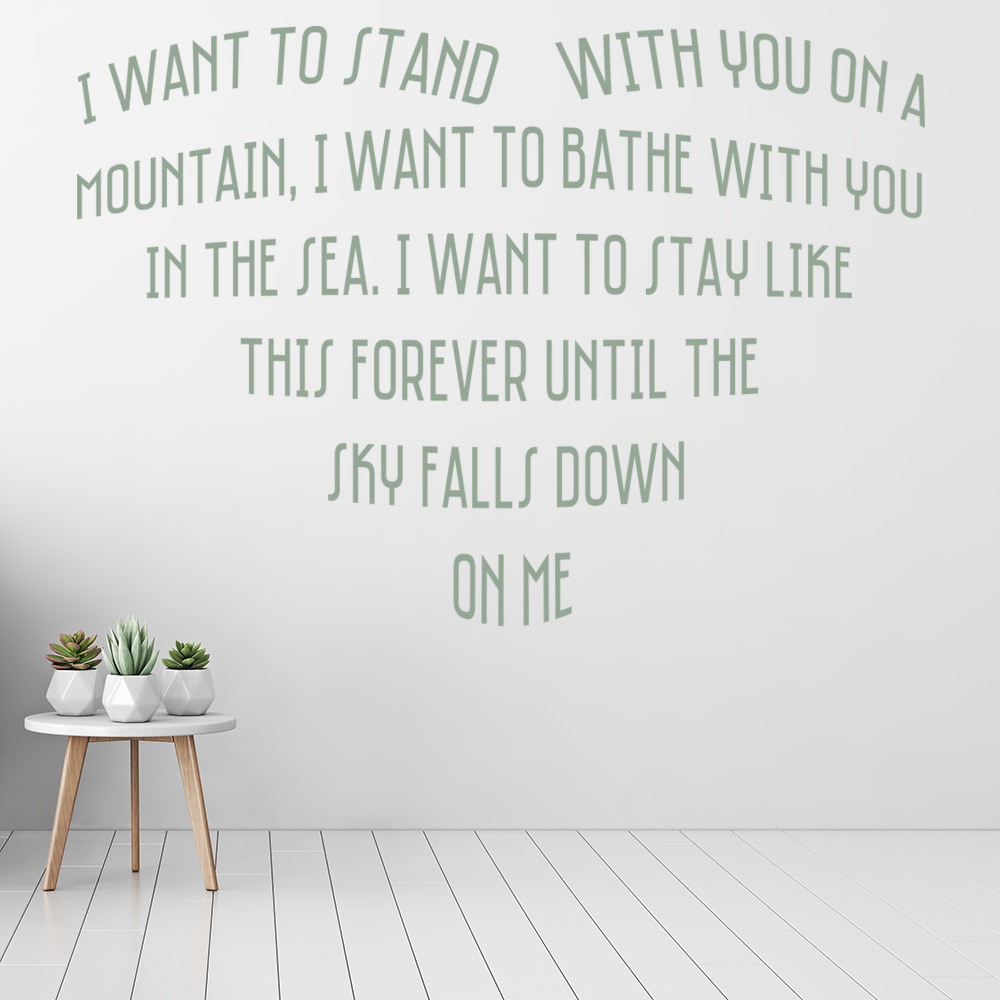 I want to stand with you on a mountain wall sticker lyrics wall i want to stand with you on a mountain wall sticker lyrics wall decal art amipublicfo Choice Image