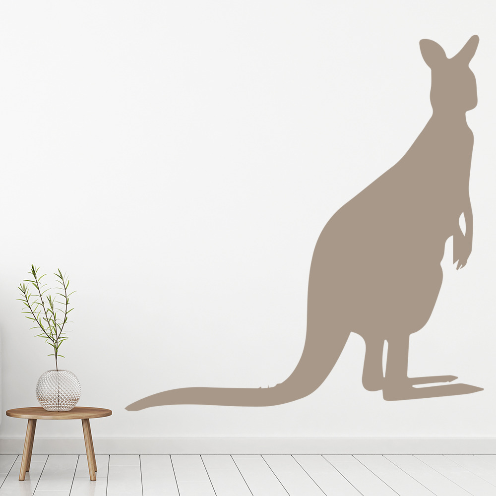 Kangaroo standing australian wild animals wall stickers home decor art decals ebay Home decor wall decor australia