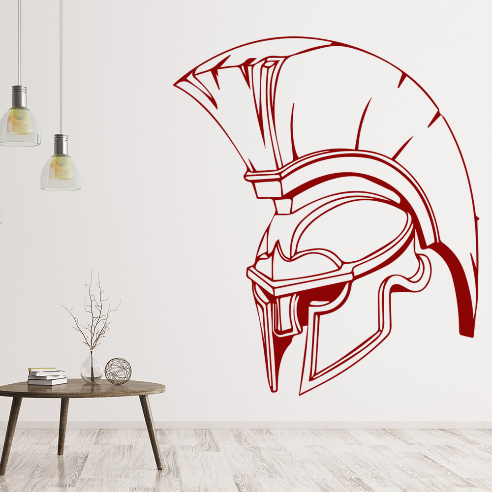 Spartan helmet army rome people and faces wall stickers for Wall stickers roma