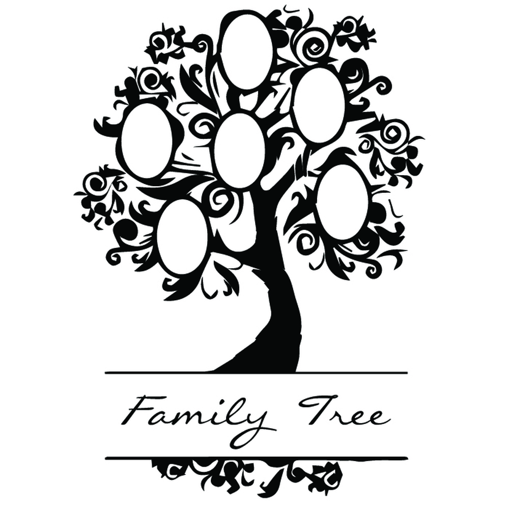 elegant family tree wall sticker family wall decal art ebay. Black Bedroom Furniture Sets. Home Design Ideas