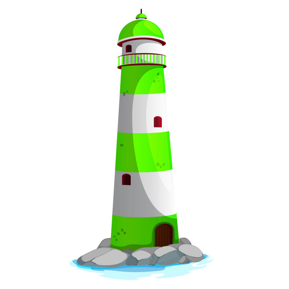 green lighthouse kids seaside colour wall sticker bathroom seaside collection wall sticker wall stickers