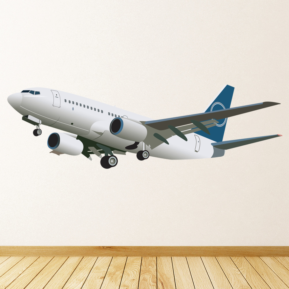 aeroplane transport colour wall sticker home art decals transport wall stickers 44869 walltastic select