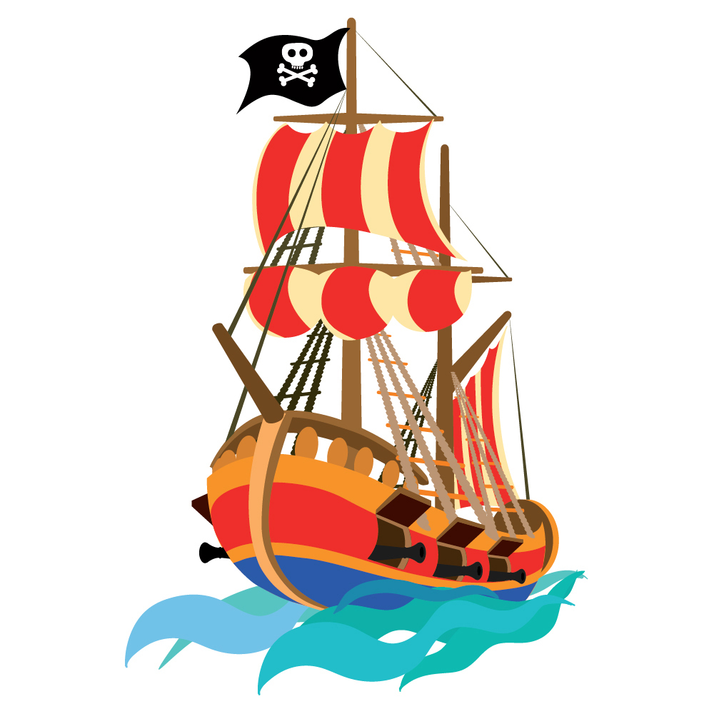 pirate wall sticker pirate ship wall decal kids boys