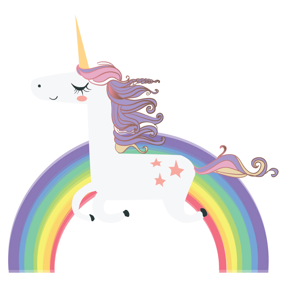 Wall sticker unicorn arc sticker art filles chambre for Chambre unicorn