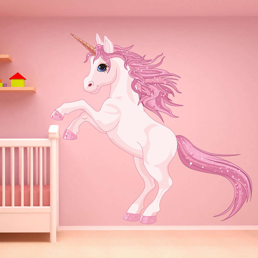 Unicorn wall sticker fantasy fairy tale wall decal girls Wall stickers for bedrooms