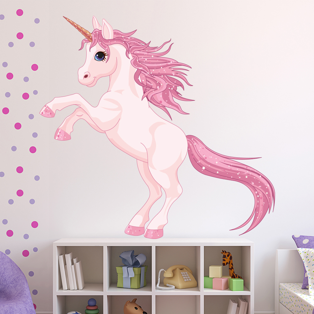 Unicorn Wall Sticker Fantasy Fairy Tale Wall Decal Girls
