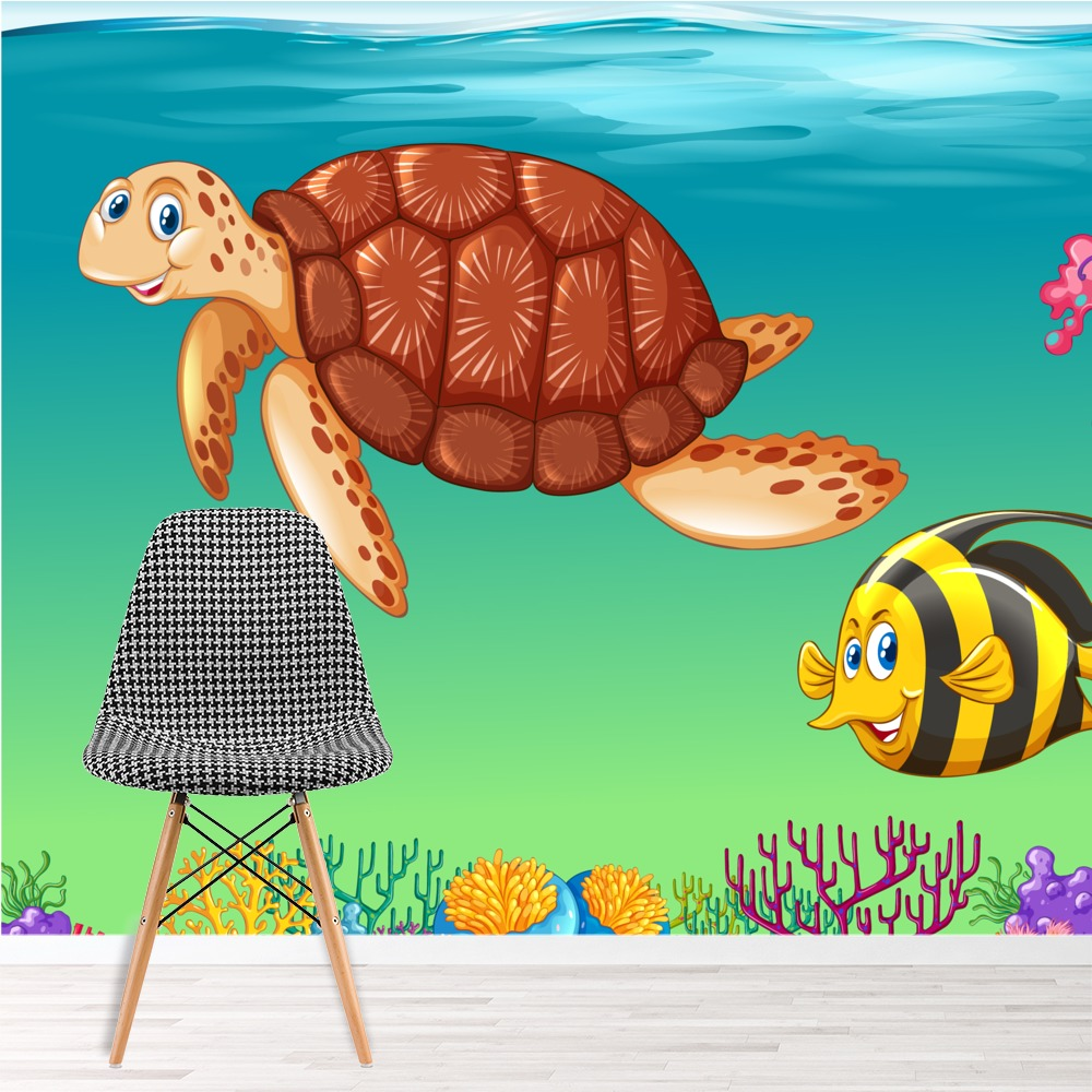 sea animals wall mural under the sea photo wallpaper kids