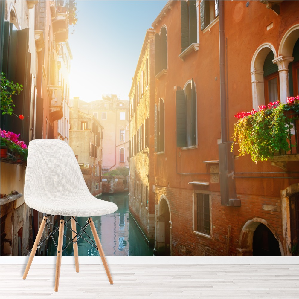 Street Canal Venice Wall Mural Italy Photo Wallpaper