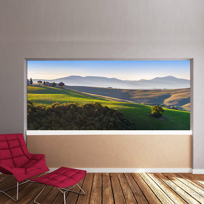 Tuscan countryside italy landscape nature wall mural for Countryside wallpaper for walls