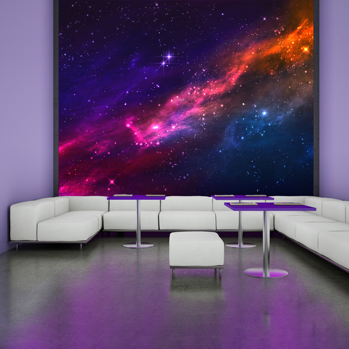 Outer space nebula universe astronomy wall mural cosmic for Astronaut wall mural