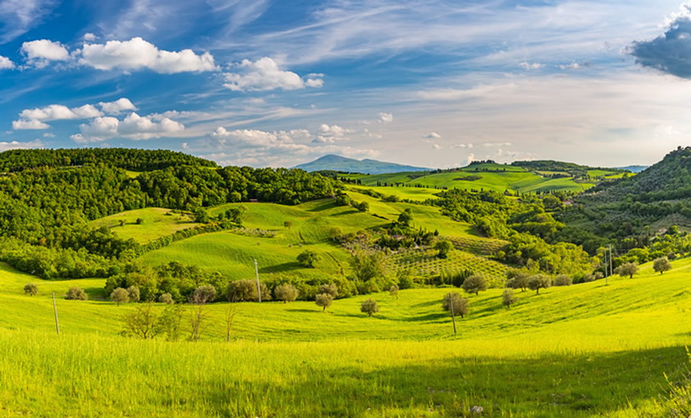Tuscan countryside italian landscape wall mural nature for Countryside wallpaper for walls