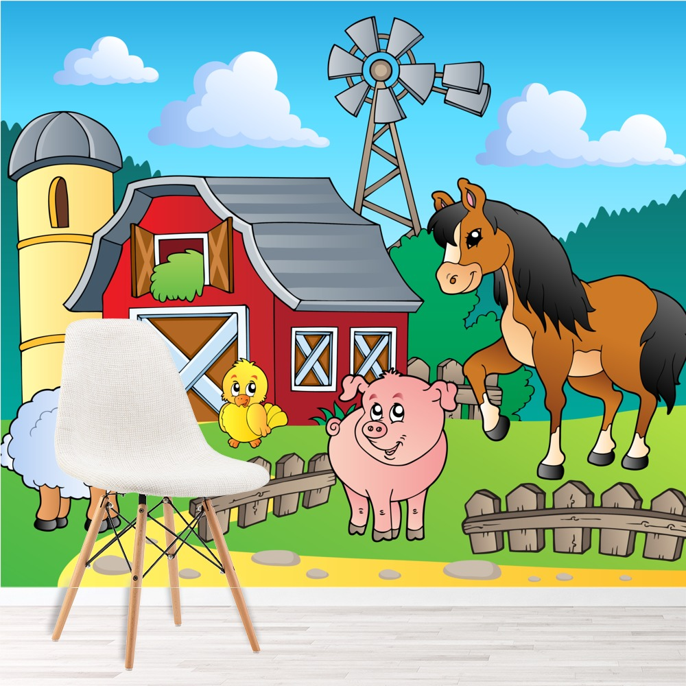 farmyard animal wall mural horse photo wallpaper kids wolf animal wall mural photo wallpaper 2939dk