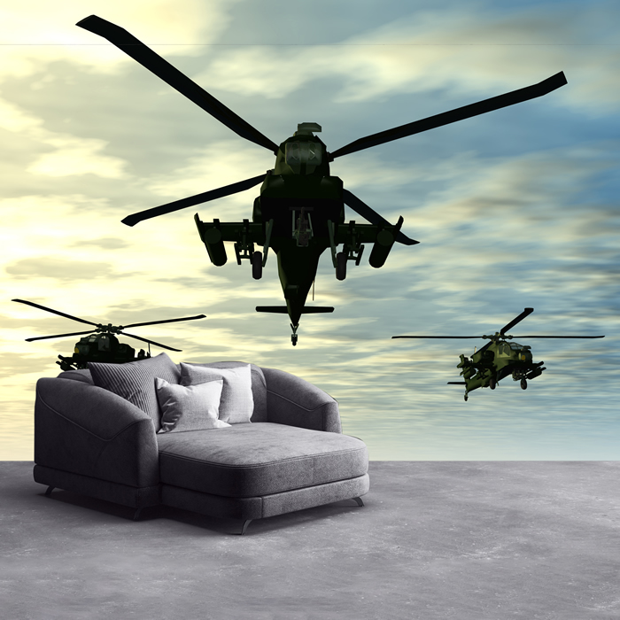 Apache helicopters in flight army aircraft wall mural for Army wallpaper mural