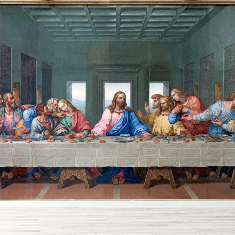 Wonderful The Last Supper Wall Mural Jesus Christ Photo Wallpaper Religion Home Decor Part 22