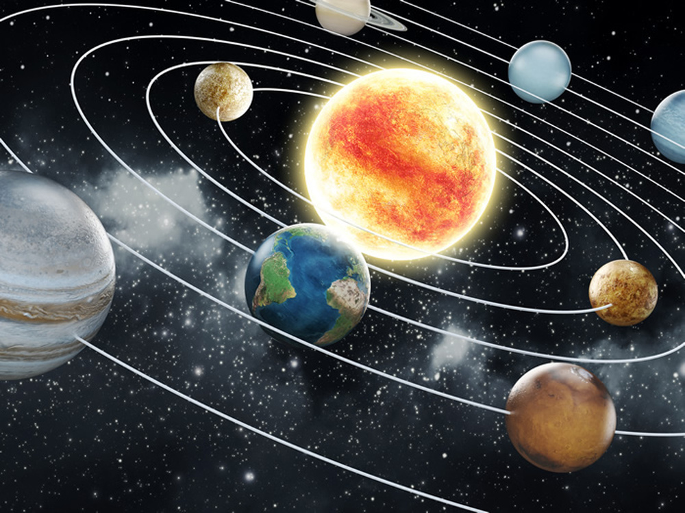 space wall mural planets solar system photo wallpaper kids