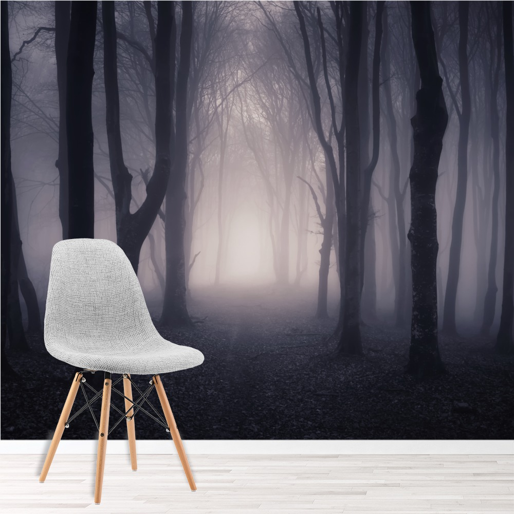 Forest Wall Mural dark misty woods wall mural forest & trees photo wallpaper bedroom