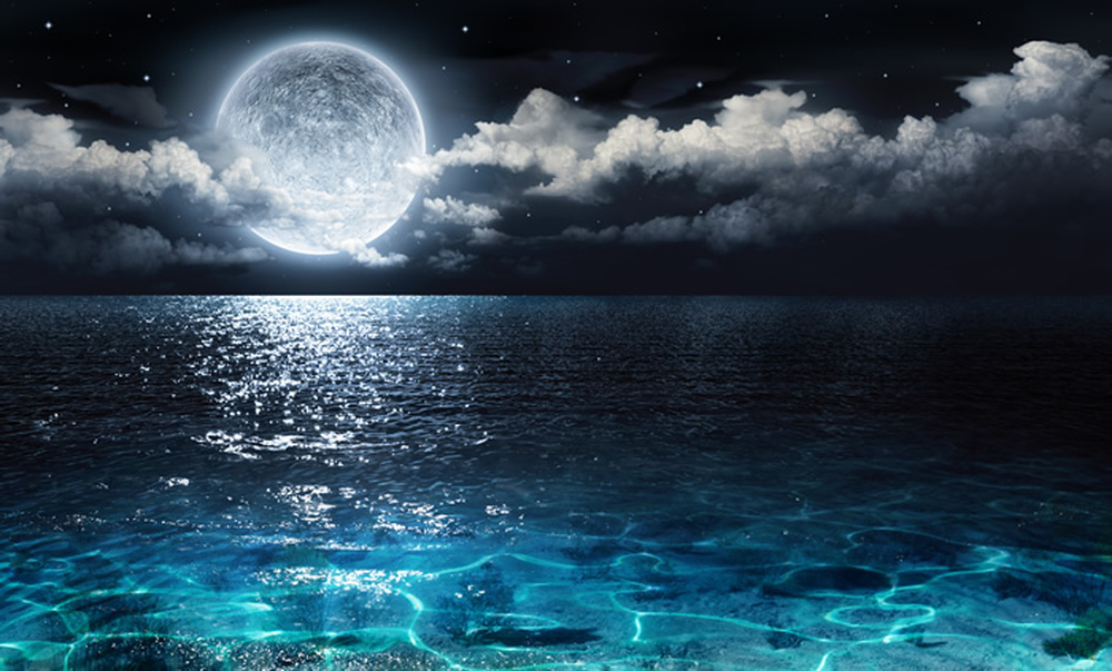 Photo Collection Moon Over Water Wallpaper