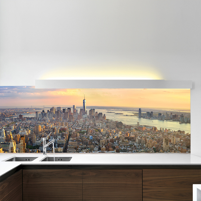 manhattan skyscrapers new york usa wall mural city. Black Bedroom Furniture Sets. Home Design Ideas