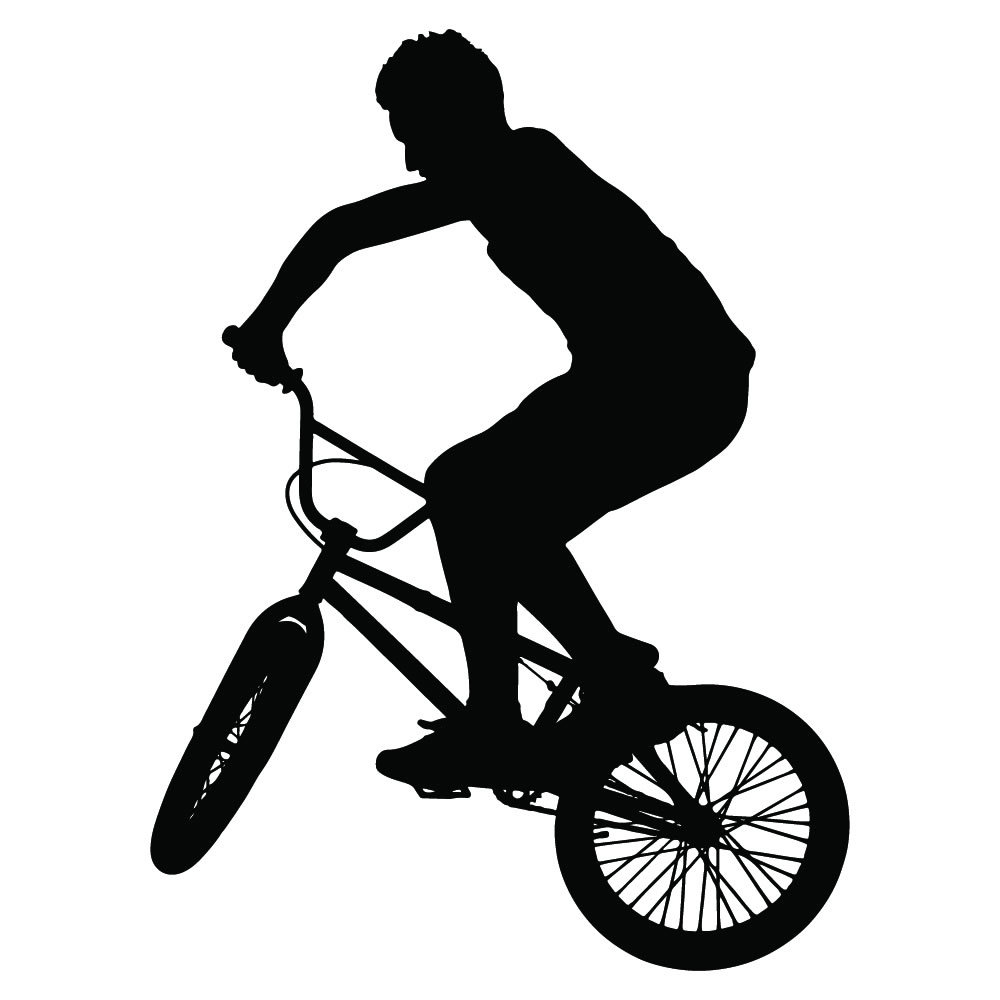 bmx bike and rider bmx and cycling wall stickers sports bmxing wall sticker home vinyl
